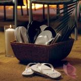 Gadżety weselne Klapki JUST MARRIED - Białe - S