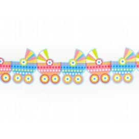Girlanda bibułkowa wózeczki