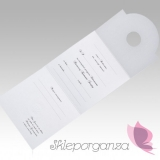 Zaproszenia komunijne do wypisania Zaproszenia komunijne biały ornament, 10 szt