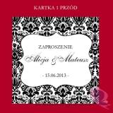 Zaproszenia ślubne Zaproszenie – personalizacja kolekcja – DAMASK