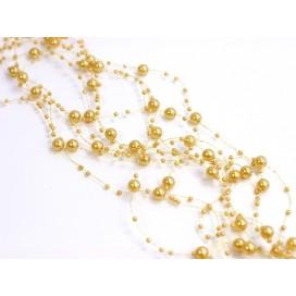 Girlanda perłowa złoty pastel