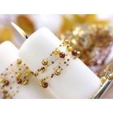 Girlandy perłowe Girlanda perłowa złoty pastel