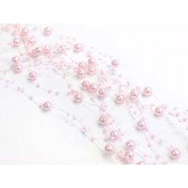 Girlanda perłowa jasny róż