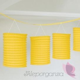Dekoracje wiszące Girlanda lampiony żółte