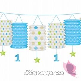 Kolekcja Roczek Chłopca Girlanda z lampionami niebieskimi Roczek