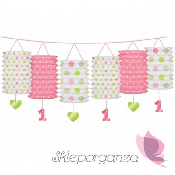 Girlanda z lampionami różowymi Roczek