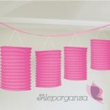 Girlanda lampiony różowe