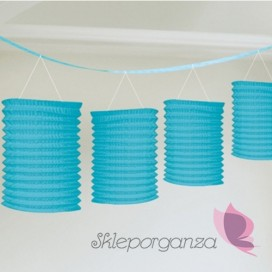 Dekorcje wiszące Girlanda lampiony niebieskie