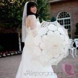 Parasolki ślubne Parasolka classic lace biała