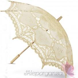 Parasolka classic lace kremowa