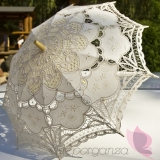 Parasolki ślubne Parasolka classic lace kremowa