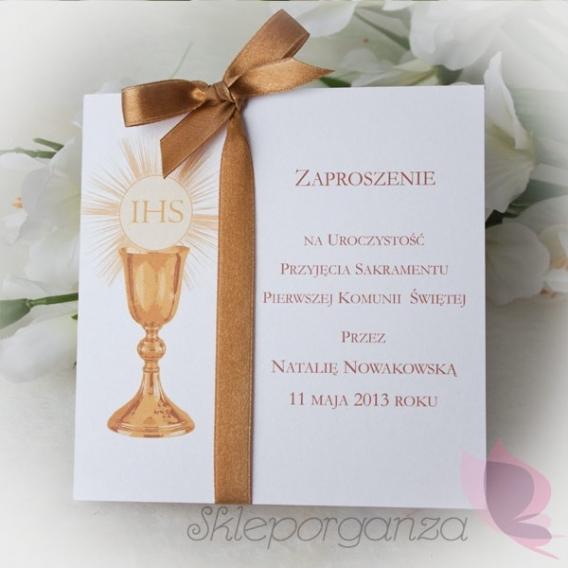 Zaproszenie - personalizacja kolekcja KOMUNIA