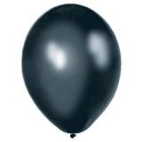 Balony METALICZNE czarne 30 cm, 100 sztuk