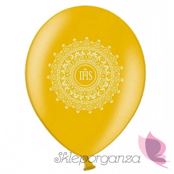 Balon komunijny złoty - ornament