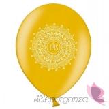 Balony Balon komunijny złoty - ornament