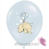 Balony na Baby Shower Balony Słonik Niebieskie, 6szt.