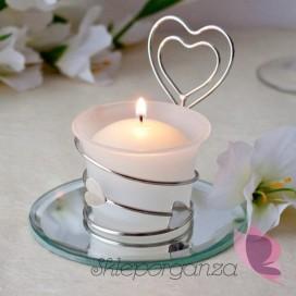 Szkło, świeczniki, świece Świecznik serce