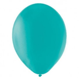 Balony PASTELOWE turkusowe 25 cm, 100 sztuk