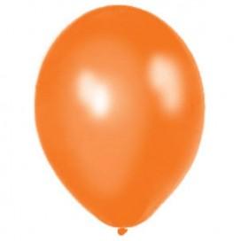 Balony METALICZNE pomarańczowe 30 cm, 100 sztuk
