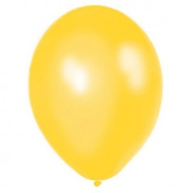 Balony METALICZNE żółte 30 cm, 100 sztuk