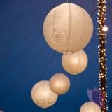 Lampion dekoracyjny, kula biała 50cm