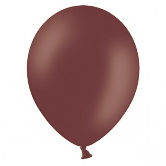 Balony PASTELOWE kasztanowe 25 cm, 100 sztuk