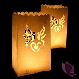 Lampiony torebki gołąbki - 10 szt