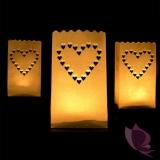 Lampiony torebki Lampiony torebki serca - 10 szt