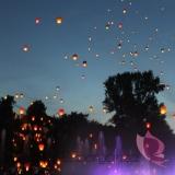 Latające lampiony Latające lampiony życzeń - białe serca