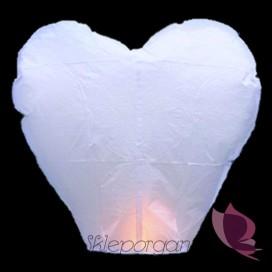 Latające lampiony życzeń - białe serca