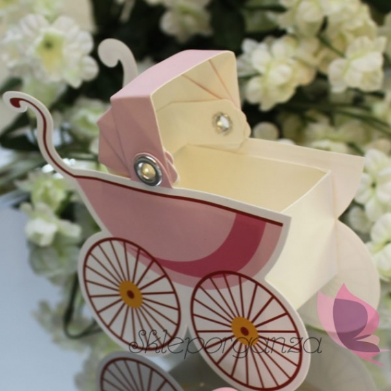 Kolekcja Wózeczek Pudełko wózek - różowy