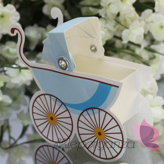 Kolekcja Wózeczek Pudełko wózek - niebieski
