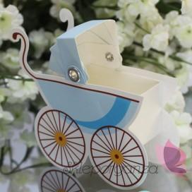 Pudełko wózek - niebieski