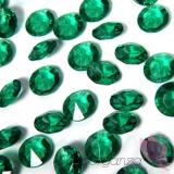 Kryształki Diamentowe konfetti ciemnozielone 100 sztuk