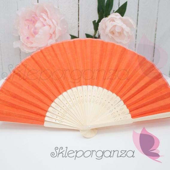 Wachlarz papierowy pomarańczowy