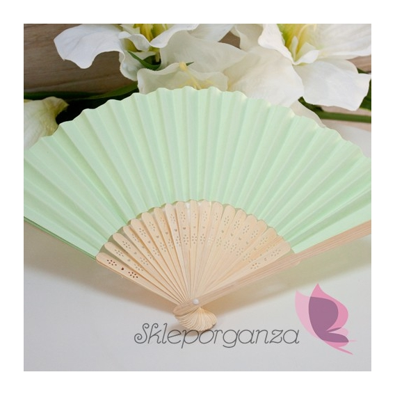 Wachlarz papierowy zielony