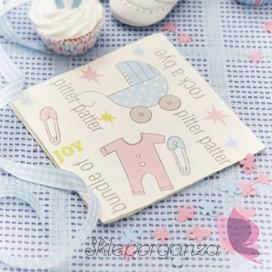 Kolekcja Wózeczek na Baby Shower Serwetki WÓZECZEK, 20 szt