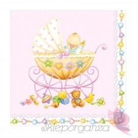 Serwetki Serwetki wózek różowy, 20szt