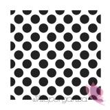Kolekcja Kropki na Baby Shower Serwetki 33x33 KROPKI białe - czarne