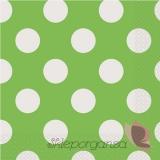 Kolekcja Kropki Serwetki 33x33 KROPKI zielone - białe