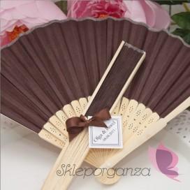 Wachlarz papierowy brązowy - personalizacja