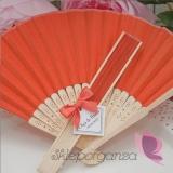 Wachlarz papierowy pomarańczowy - personalizacja