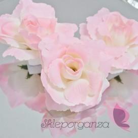 Róże do przylepiania różowe, 24 szt
