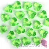 Kryształowe serca jasnozielone 30 sztuk