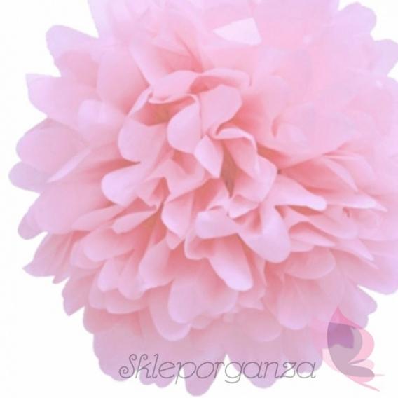 Papierowy kwiat, jasnoróżowy, 35cm