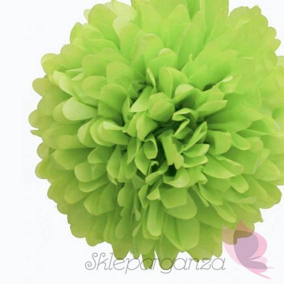 Papierowe kule kwiatowe pompony Papierowy kwiat, jasnozielony, 35cm