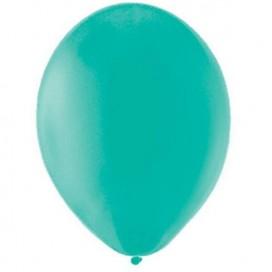 Balony PASTELOWE ciemnomiętowe 25 cm, 100 sztuk
