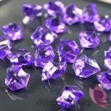Kryształki Kryształowy lód liliowy 50 sztuk