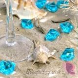 Kryształki Kryształowy lód turkusowy 50 sztuk