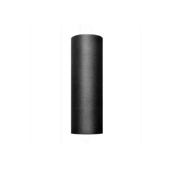 Tiul Tiul czarny, rolka 15cm x 9m